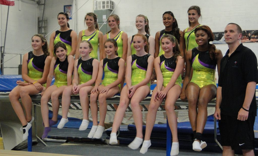 Trampoline and tumbling team group photo