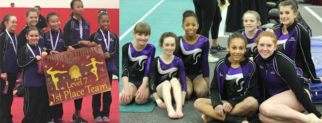 USAG gymnastics team group photo